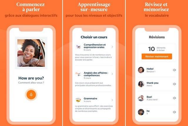 Babbel - applications pour apprendre anglais