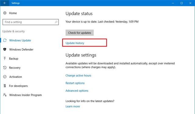 Comment désinstaller une mise à jour sur Windows 10