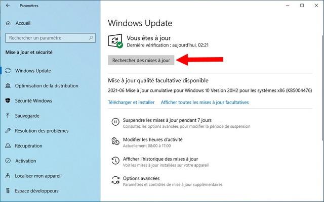 Comment réinstaller une mise à jour sur Windows 10