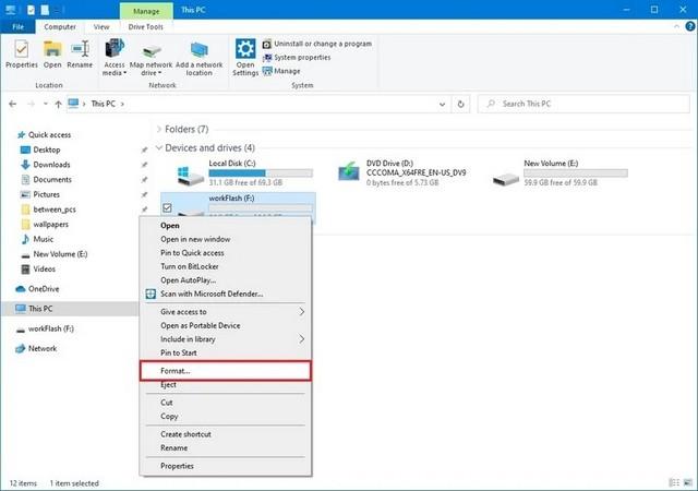 File Explorer in Windows 10