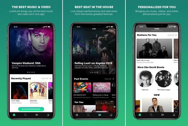 LiveXLive - meilleure application pour écouter la radio
