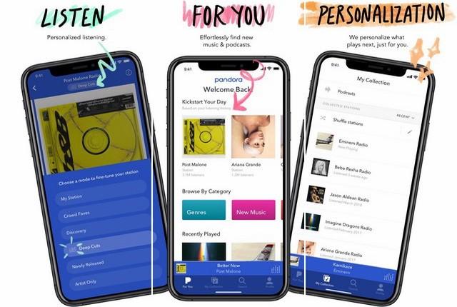 Pandora - meilleure application pour écouter la radio