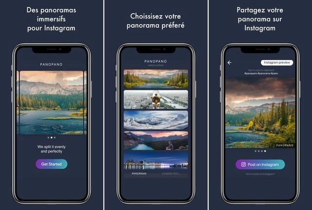 PanoPano - application de panorama pour iPhone