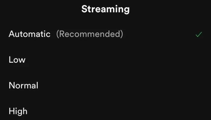 Réduire l'utilisation des données dans Spotify