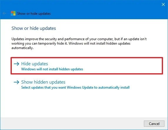 Reinstall updates on Windows 10