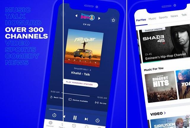 SiriusXM - meilleure application pour écouter la radio