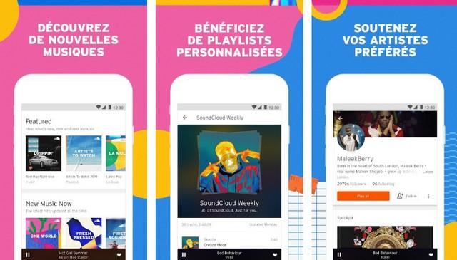 SoundCloud - meilleure alternative à Google Play Music