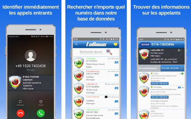 Tellows - meilleure alternative à Truecaller