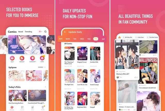 WebComics - application de manga pour iPhone