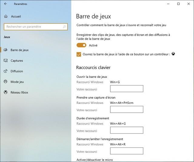 Activer l'enregistrement d'écran à l'aide de la Xbox Game Bar