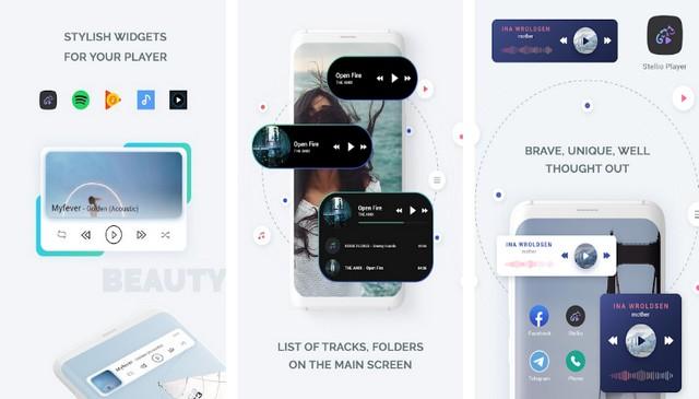 Audio Widget Pack - meilleurs widgets musicaux