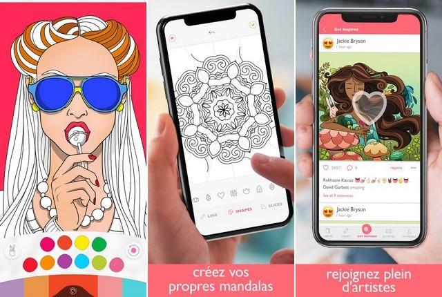 Colorfy - application de coloriage pour iPhone