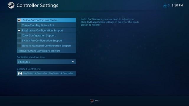 Connecter une manette PS4 à un PC Windows 10 à l'aide de Steam