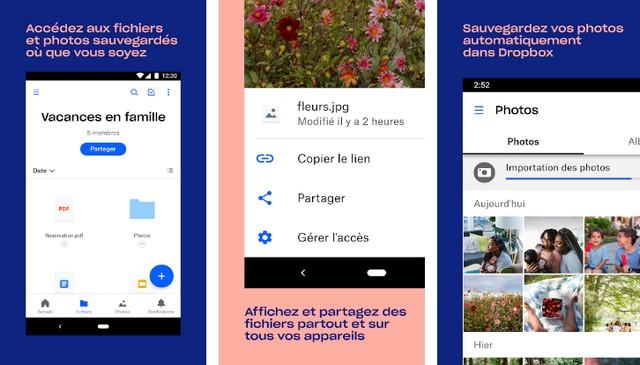Dropbox - meilleure alternative à Google Photos