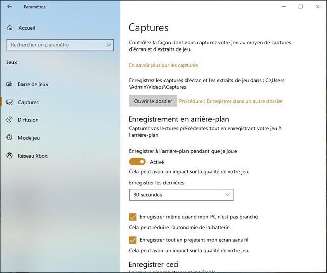 Enregistrer votre écran dans Windows 10 en arrière-plan