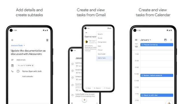 Google Tasks - applications de planification d'événements