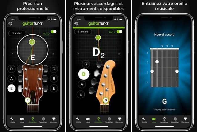 GuitareThon - applications accordeur de guitare