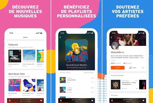 SoundCloud - meilleure alternative à Apple Music