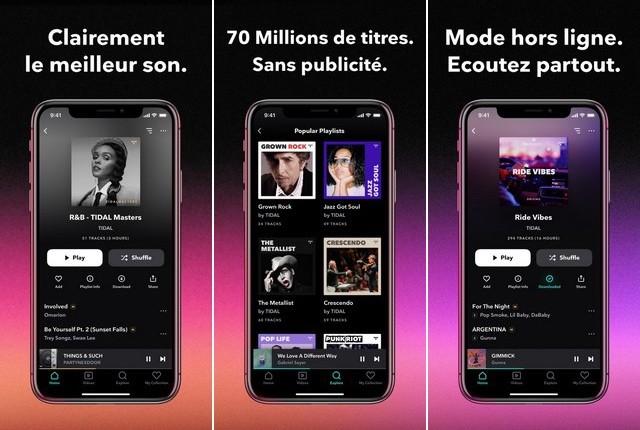 TIDAL - meilleure alternative à Apple Music