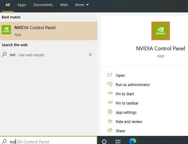 Use the NVIDIA Control Panel