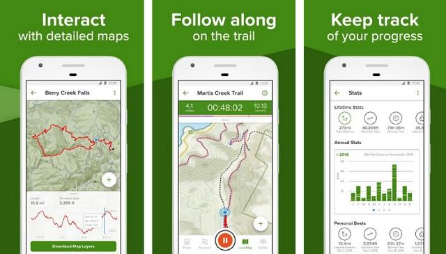 AllTrails - applications de été pour Android