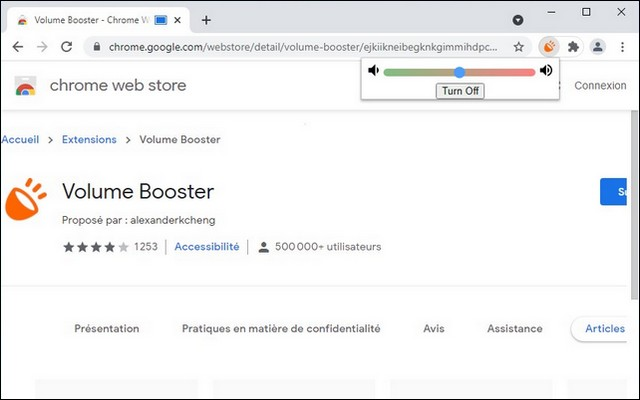 How to increase the maximum volume in Google Chrome