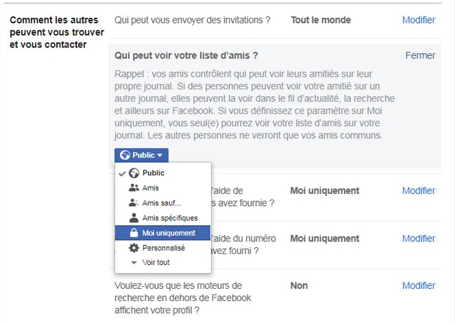 How to make your Facebook account more private