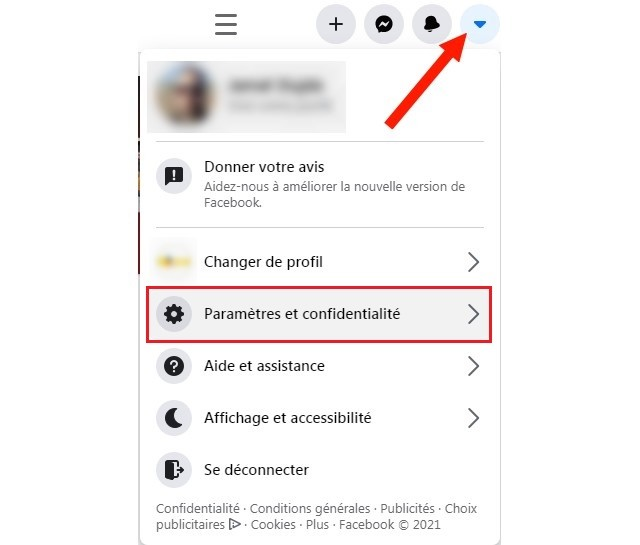 Settings and privacy on Facebook
