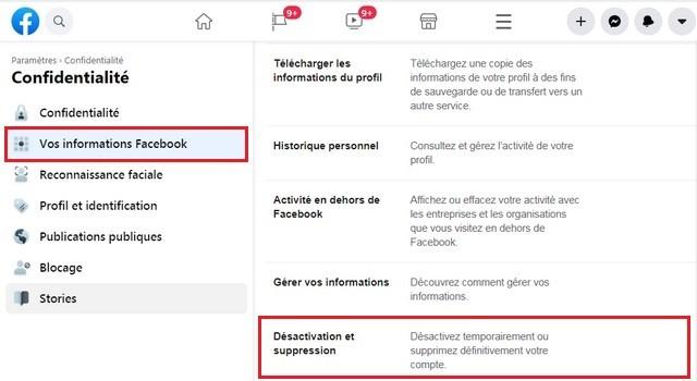 Your Facebook information