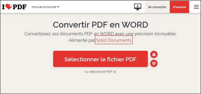 Sélectionner un fichier PDF