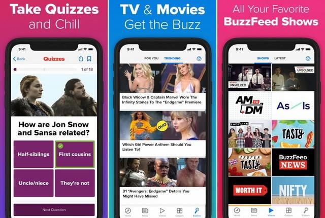 BuzzFeed - meilleures applications amusantes