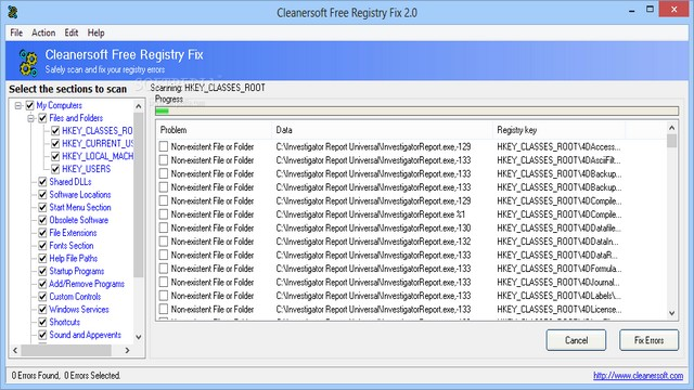 Cleanersoft Free Registry Fix