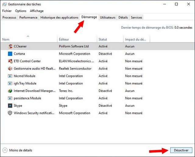 Comment accélérer PC Windows 10