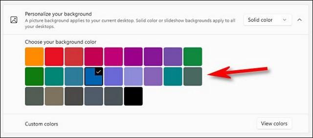 Comment choisir une couleur unie comme arrière-plan