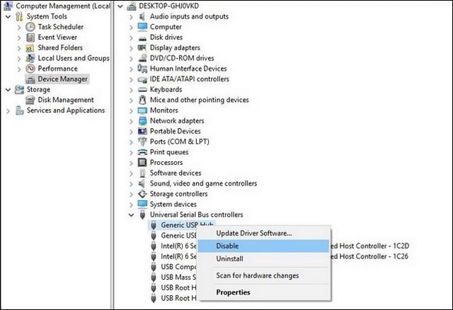 Désactiver les ports USB sur Windows 10