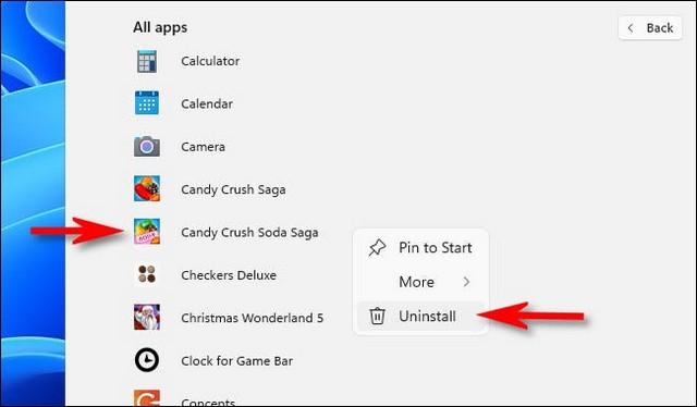 Désinstaller un logiciel sur Windows 11