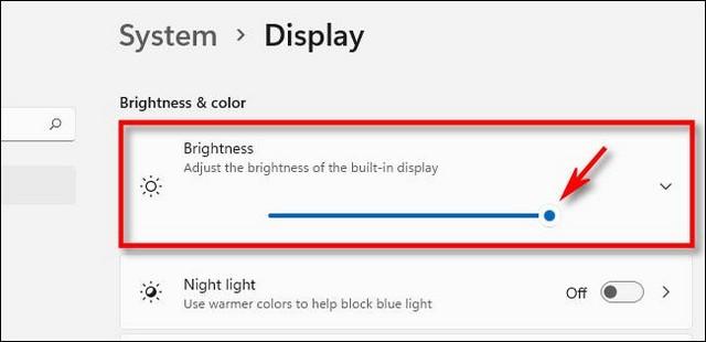 Modifier la luminosité de l'écran