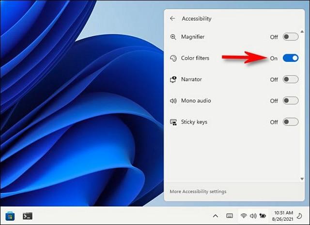 Utiliser les filtres de couleur dans Windows 11