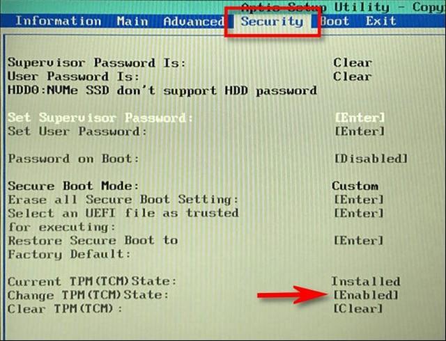 Comment activer TPM 2.0 dans le Bios pour Windows 11