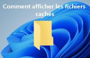 Comment afficher les fichiers cachés sur Windows 11