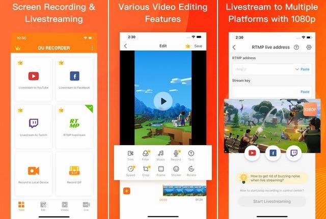 DU Recorder - meilleur application de capture vidéo