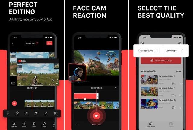 Enregistrement Ecran Video App