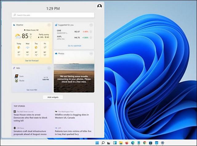 Le menu des widgets - fonctionnalités intéressantes sur Windows 11