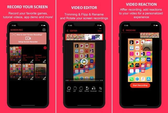 Rec - meilleur application de capture vidéo