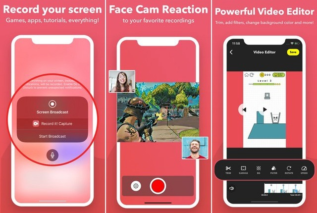 Record it - meilleur application de capture vidéo