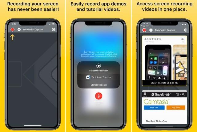 TechSmith Capture - meilleur application de capture vidéo