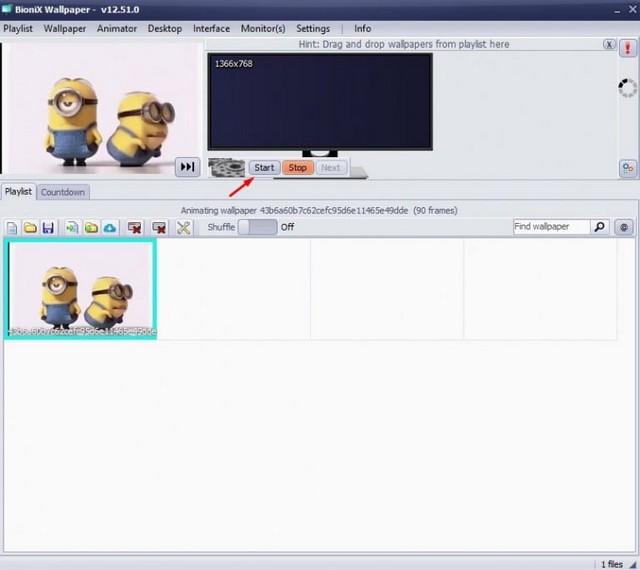 Utiliser un GIF animé comme fond d'écran